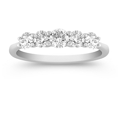 Five Stone Diamond Anniversary Band