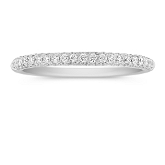 Comfort Fit Diamond Pave Set Wedding Band