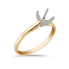 Solitaire 14K Yellow Gold Engagement Ring