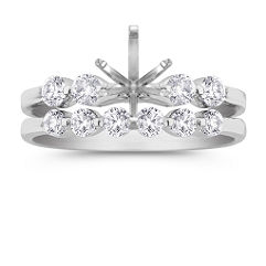Ten Diamond Platinum Wedding Set