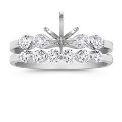 Ten Diamond Platinum Wedding Set
