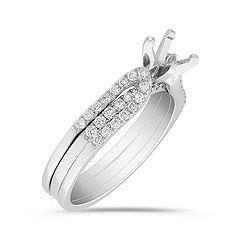Round Diamond Wedding Set