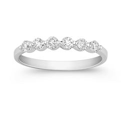 Six Stone Round Diamond Wedding Band - 1/3 ct. t.w.