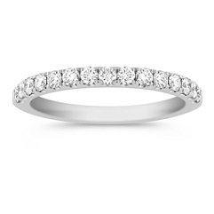 Diamond Wedding Band with Pave Setting - 5/8 ct. t.w.