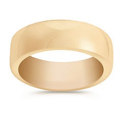 14k Yellow Gold Euro Fit Wedding Band (7.5mm)