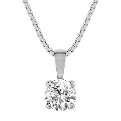 Round Diamond Solitaire Pendant (18)