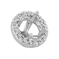 Diamond Halo Head  to Hold 1 ct. Round Stone