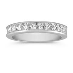 Princess Cut Diamond Wedding Band