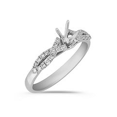 Figure Eight to Center Round Diamond Engagement Ring