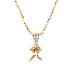 Criss Cross Round Diamond Pendant (18 in.)