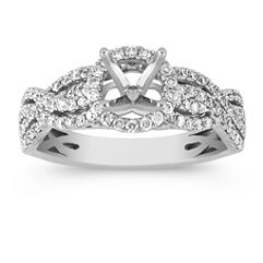 Double Diamond Infinity Halo Engagement Ring