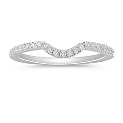 Pavé Set Diamond Contour Wedding Band