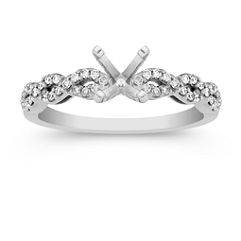 Double Diamond Infinity Engagement Ring with Pavé Setting