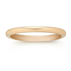14k Yellow Gold Comfort Fit Wedding Band (2mm)