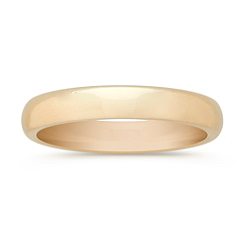 14k Yellow Gold Comfort Fit Wedding Band (3mm)