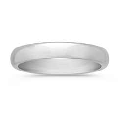 14k White Gold Comfort Fit Wedding Band (4mm)