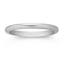 Platinum Comfort Fit Wedding Band (2mm)