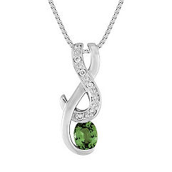 Oval Green Sapphire and Diamond Pendant (18)