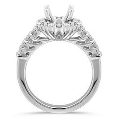Halo Diamond Platinum Engagement Ring