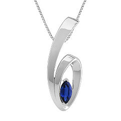 Marquise Sapphire Pendant (18 in.)