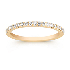 Pave Set Classic Diamond Wedding Band