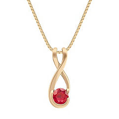 Round Ruby Pendant (18 in.)