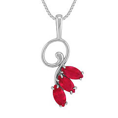 3/4 ct. Marquise Ruby Pendant (18 in.)