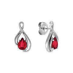 Pear Shaped Ruby Earrings