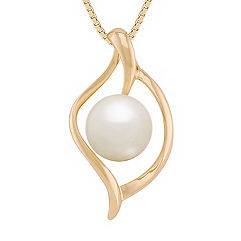 8mm Cultured Freshwater Pearl Pendant (18 in.)