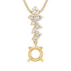Zigzag Round Diamond Pendant (18)