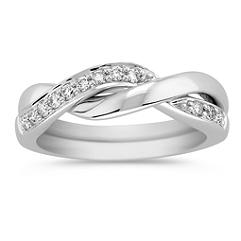 Round Diamond Puzzle Ring