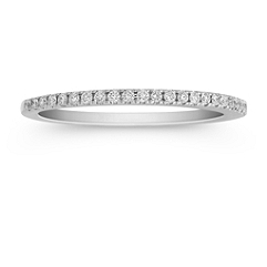 Diamond Wedding Band with Pave Setting - 1/6 ct. t.w.