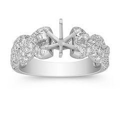 Braided Infinity Diamond Engagement Ring