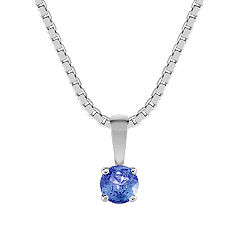 "Round Kentucky Blue Sapphire Pendant (18"")"