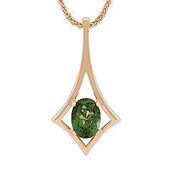 Oval Green Sapphire Pendant (18 in.)