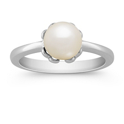 7mm Cultured Akoya Pearl Ring