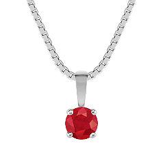 Round Ruby Pendant (18)