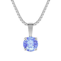 Round Ice Blue Sapphire Pendant (18)