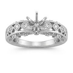 Vintage Bezel Set Diamond Engagement Ring