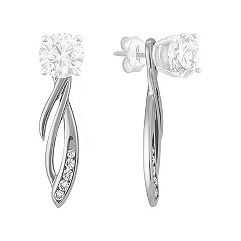 Round Diamond Dangle Earring Jackets