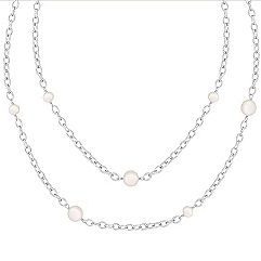 5mm Cultured Freshwater Pearl and Sterling Silver Necklace (47 in.)