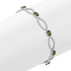 Oval Green Sapphire Bracelet (7 in.)
