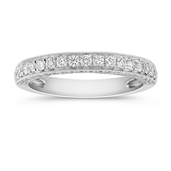 Diamond Pave Set Wedding Band