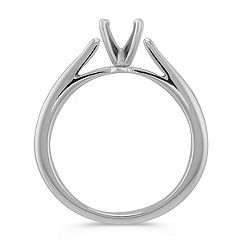 Cathedral Solitaire White Gold Engagement Ring