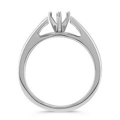 Solitaire Cathedral White Gold Engagement Ring