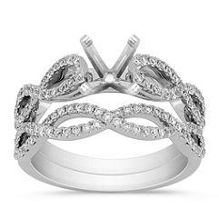 Diamond Infinity Wedding Set