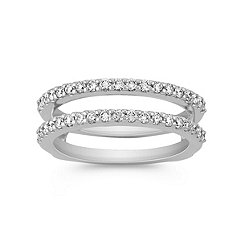 Diamond Double Band Solitaire Engagement Ring Guard