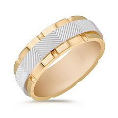 14k Two-Tone Gold Ring (8mm)