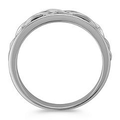 14k White Gold Twist Ring (7mm)