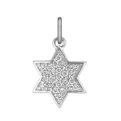 Round Diamond Star Charm